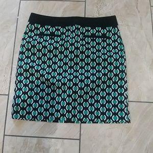 Worthington polk-a-dot mini skirt